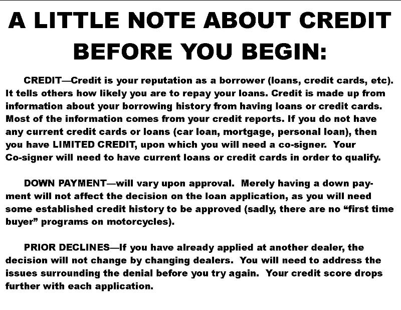 A Little Note About Credit